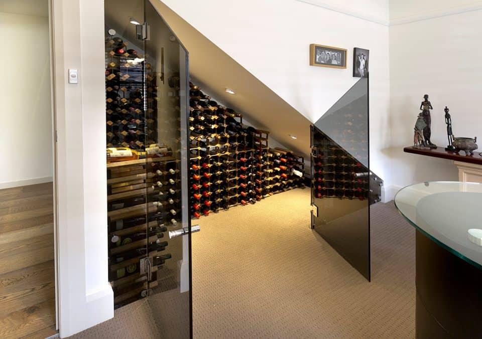 Wine celler under stairs